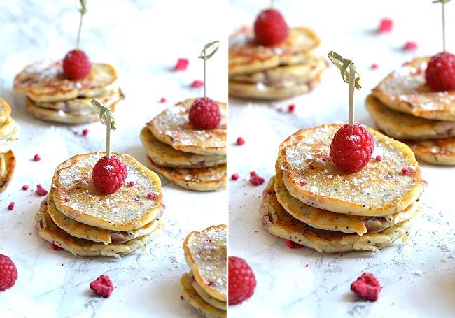 pandekager-med-hindbær