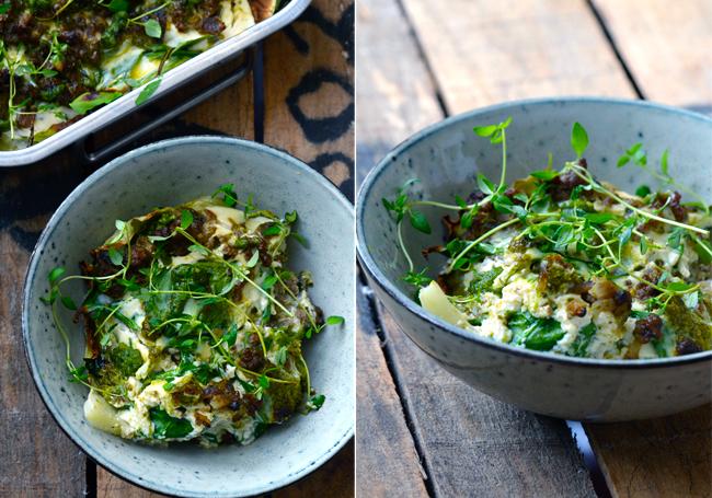 grøn-lasagne